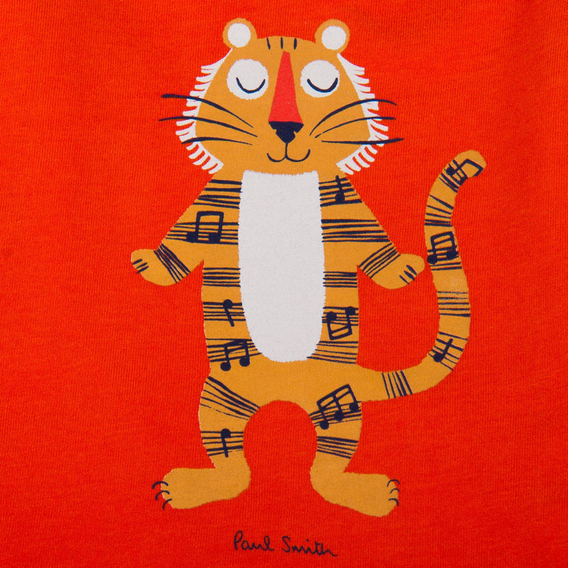 Baby Boys Orange Tiger Printed T-Shirt - CÉMAROSE | Children's Fashion Store - 4