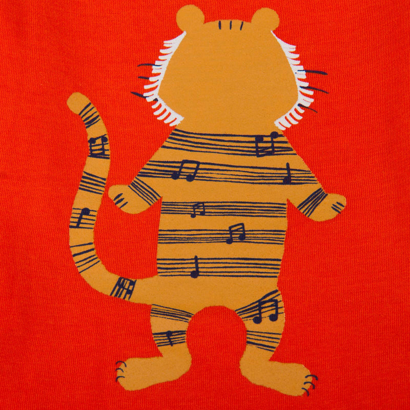 Baby Boys Orange Tiger Printed T-Shirt - CÉMAROSE | Children's Fashion Store - 5