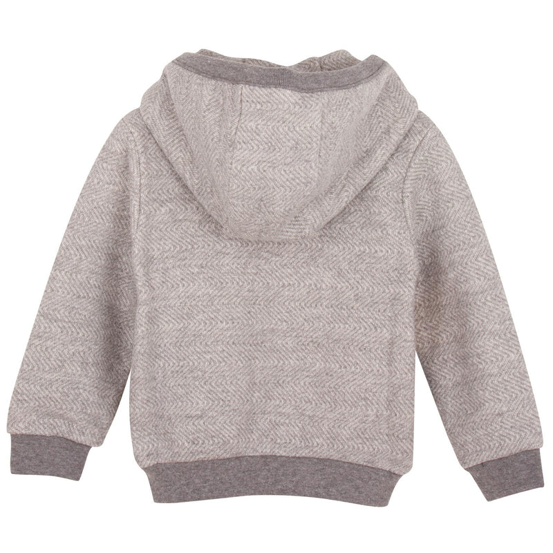 Baby Boys Grey Robot Printed Zip-Up Top - CÉMAROSE | Children's Fashion Store - 2