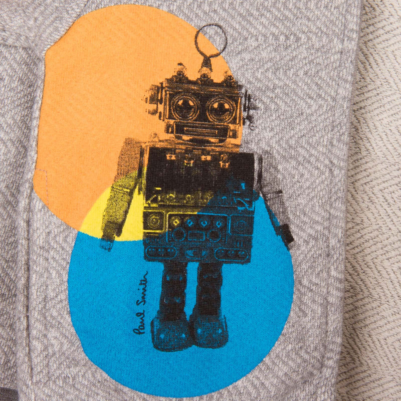 Baby Boys Grey Robot Printed Zip-Up Top - CÉMAROSE | Children's Fashion Store - 4