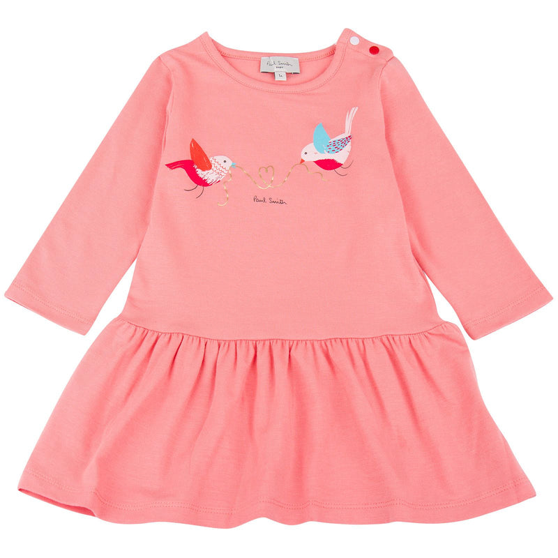 Baby Girls Pink Jasna Birds Printed Dress - CÉMAROSE | Children's Fashion Store - 1
