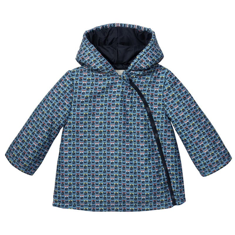 Baby Blue&Mulitcolors 'FF Monster' Printed Jacket - CÉMAROSE | Children's Fashion Store - 1