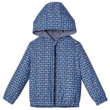 Boys Blue&Multicolors Monster Printed Hooded Jacket - CÉMAROSE | Children's Fashion Store - 1