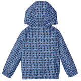 Boys Blue&Multicolors Monster Printed Hooded Jacket - CÉMAROSE | Children's Fashion Store - 2