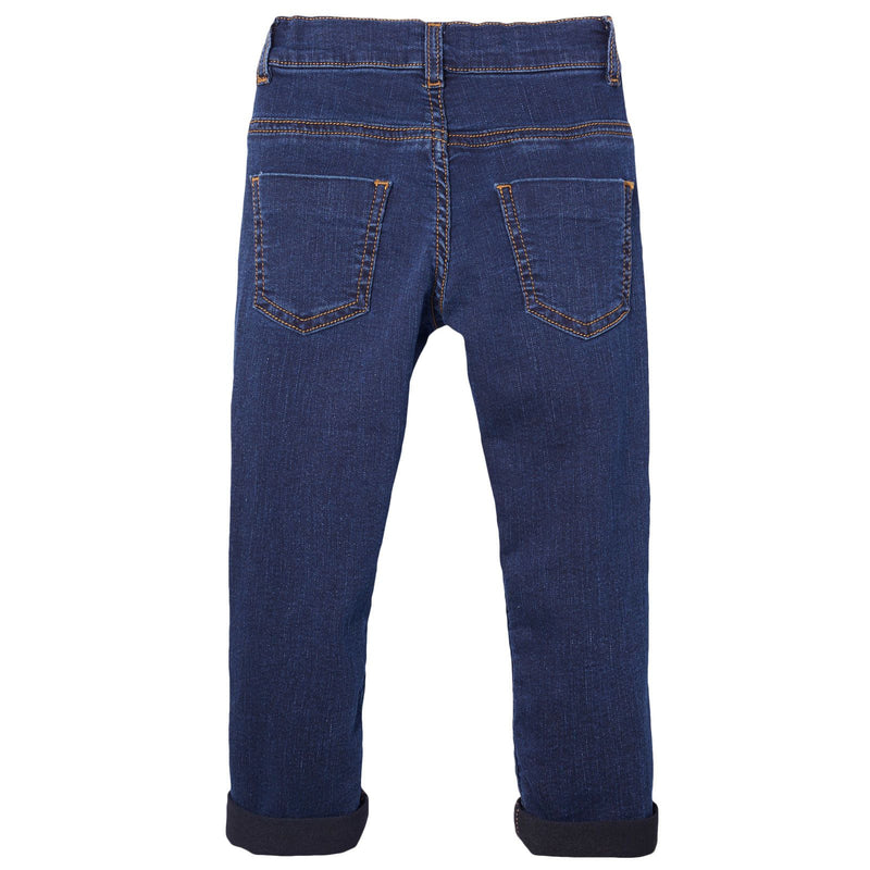Boys Dark Blue Monster Embroidered Jeans - CÉMAROSE | Children's Fashion Store - 2