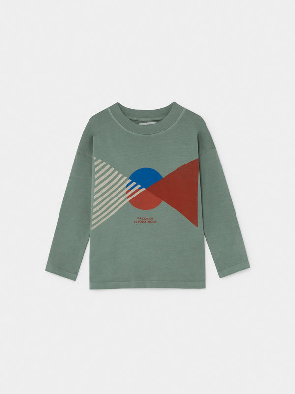 Boys Green Flag Long Sleeve Cotton T-Shirt