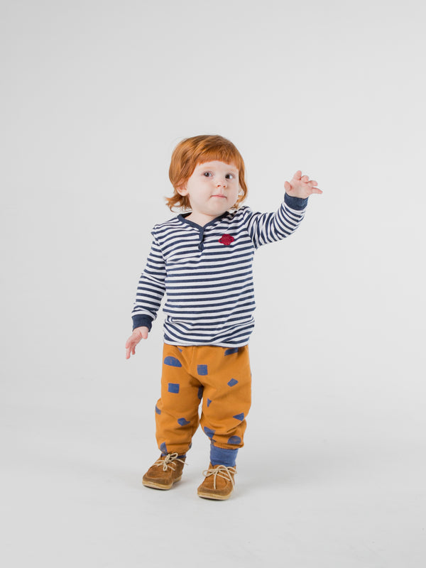 Baby Boys Blue Stripes Long Sleeve Cotton T-Shirt
