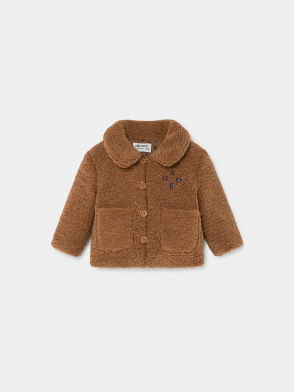 Baby Boys Camel Sheepskin Jacket