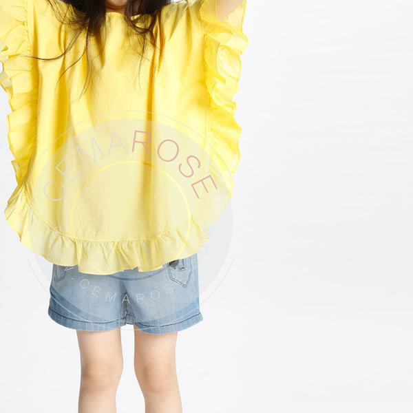 Girls Yellow Cotton Top