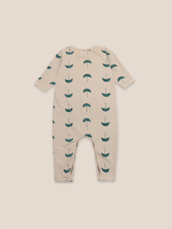 Baby Boys Brown Rice Umbrellas Rompers