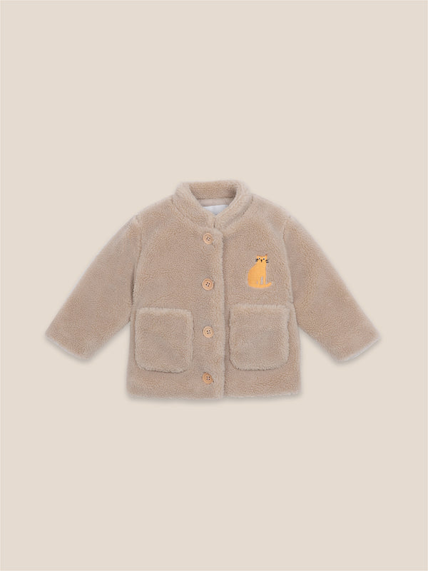 Baby Boys Brown Rice Patch Sheepskin Jacket