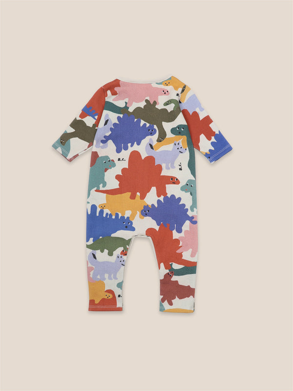 Baby Boys Brown Rice Dinos Rompers