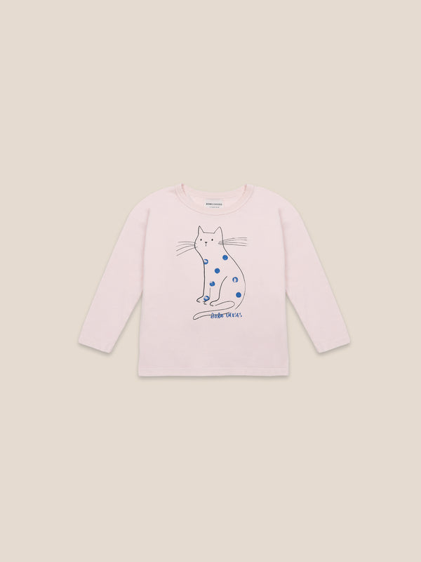 Boys Cream Tan Cat Organic Cotton T-Shirt