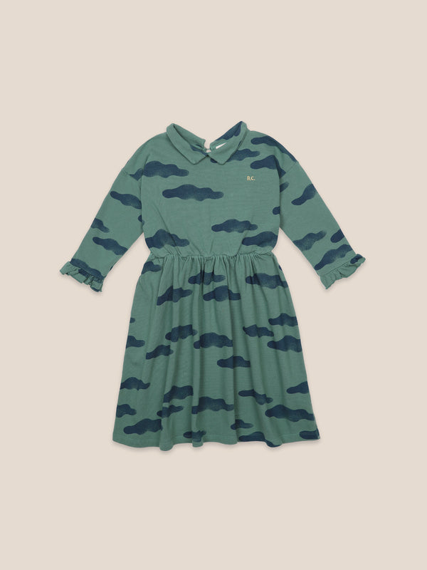 Girls Greener Pastures Clouds Organic Cotton Dress