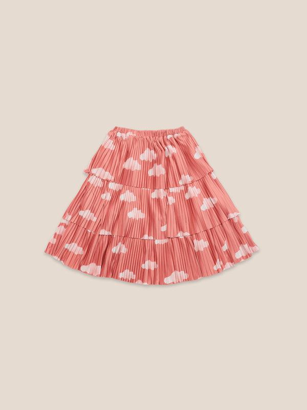 Girls Ketchup Clouds Woven Skirt