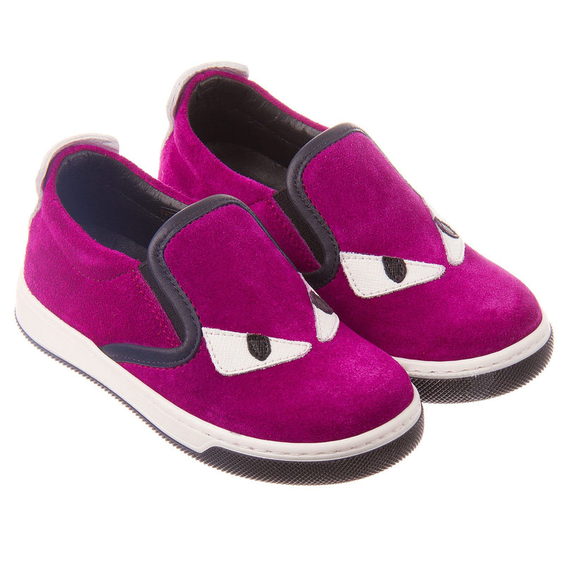 Boys&Girls Purple Suede Monster Trainers - CÉMAROSE | Children's Fashion Store - 1