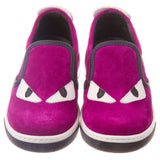 Boys&Girls Purple Suede Monster Trainers - CÉMAROSE | Children's Fashion Store - 2