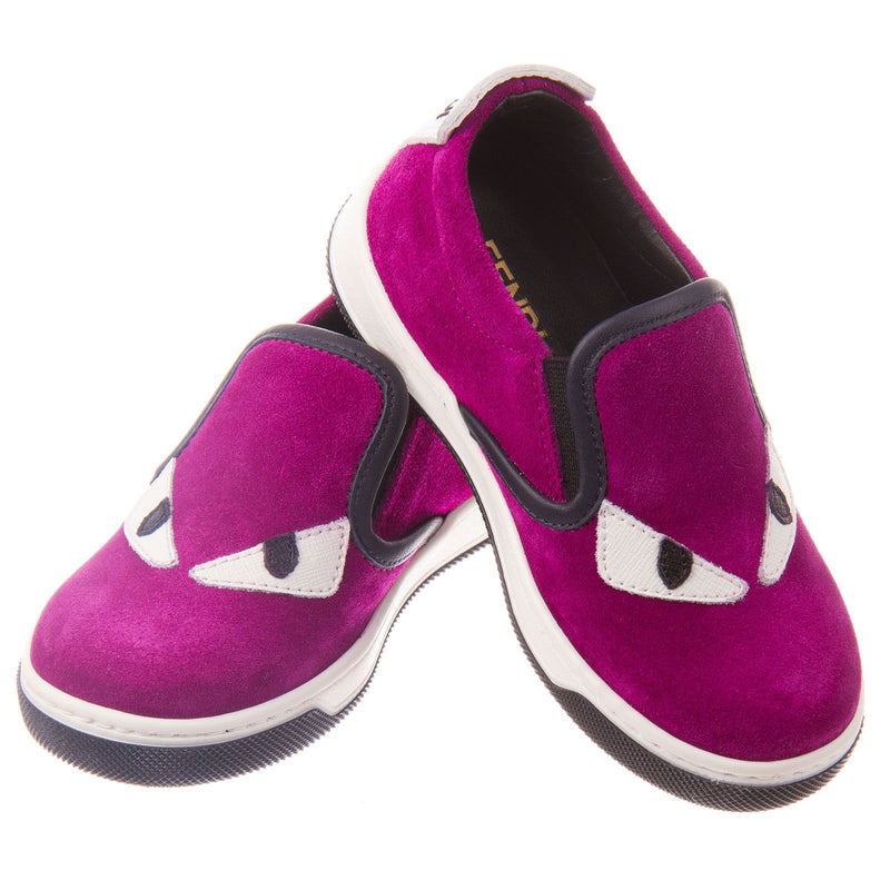 Boys&Girls Purple Suede Monster Trainers - CÉMAROSE | Children's Fashion Store - 3