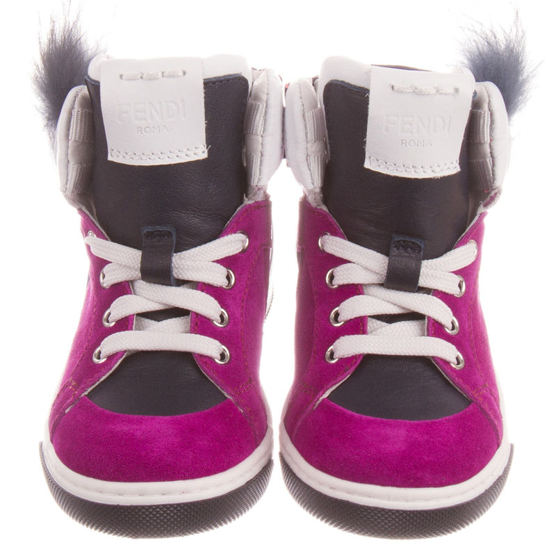 Boys&Girls Purple Suede High-top Trainers With Fur - CÉMAROSE | Children's Fashion Store - 2