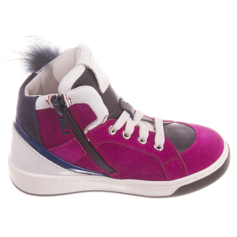 Boys&Girls Purple Suede High-top Trainers With Fur - CÉMAROSE | Children's Fashion Store - 5