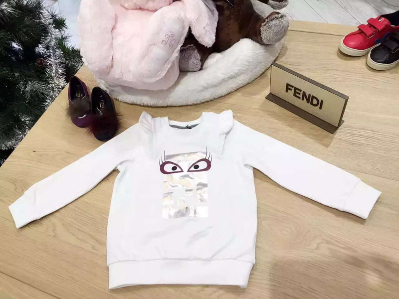 Girls Ivory Cotton 'FF Monster' Sweatshirt - CÉMAROSE | Children's Fashion Store