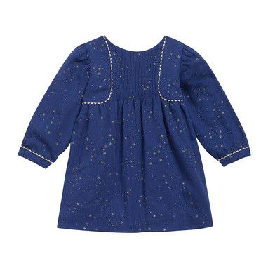 Baby Girls Blue Sequined Printed Dress - CÉMAROSE | Children's Fashion Store
