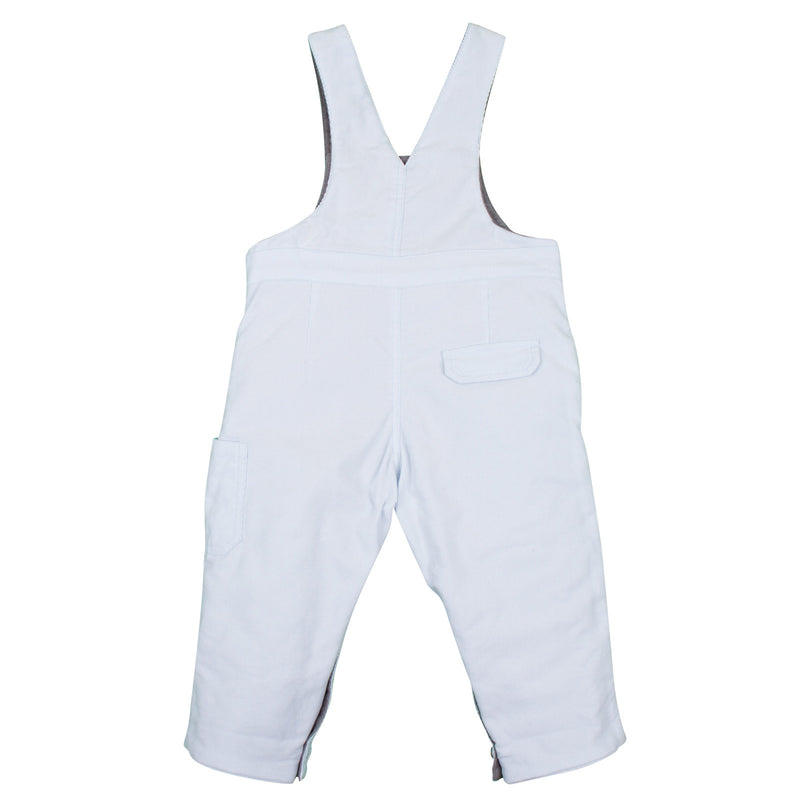 Baby Boys White Cotton Dungarees With Pockets - CÉMAROSE | Children's Fashion Store - 2