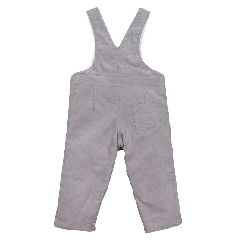Baby Boys White Cotton Dungarees With Pockets - CÉMAROSE | Children's Fashion Store - 4