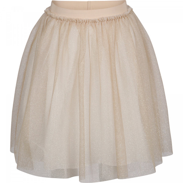Girls Beige Sequins Skirt
