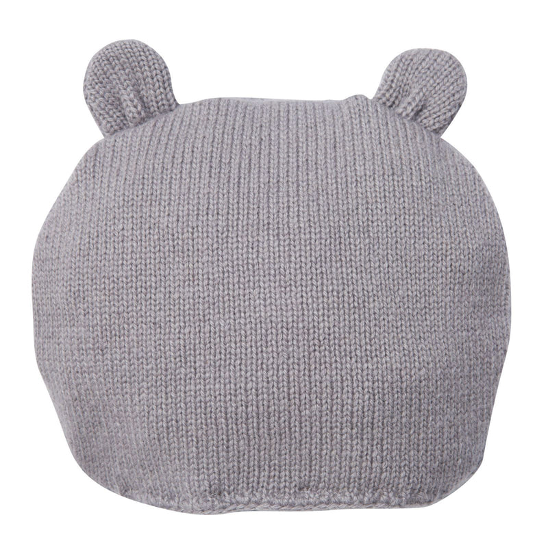 Girls Grey Knitted Mouse Wool Hat - CÉMAROSE | Children's Fashion Store - 2