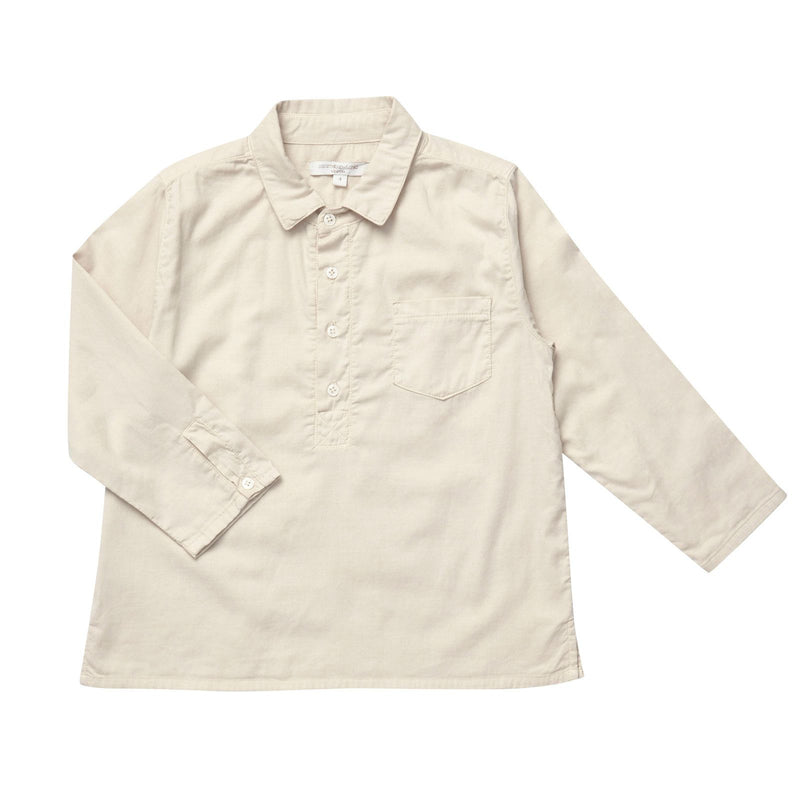 Boys White Cotton Patch Pockets Dundeugh Shirt - CÉMAROSE | Children's Fashion Store