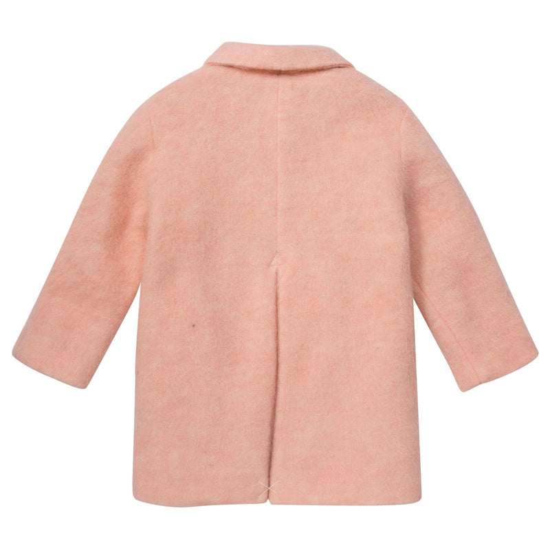 Girls Pink Polyamide Coat With Flap Pockets - CÉMAROSE | Children's Fashion Store - 2