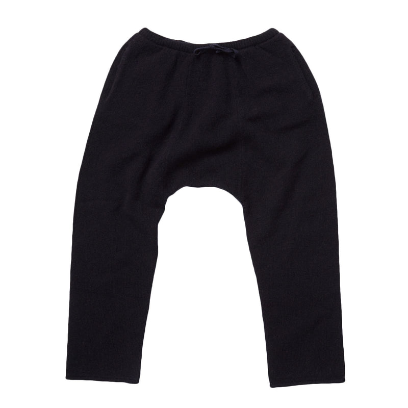 Boys&Girls Navy Blue Knitted Jersey Wool Trousers - CÉMAROSE | Children's Fashion Store