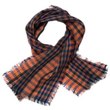 Baby Brown Khaki Check Wool Scarf - CÉMAROSE | Children's Fashion Store - 1