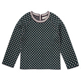 Baby Green&White Intarsia Knitted Sweater - CÉMAROSE | Children's Fashion Store - 1