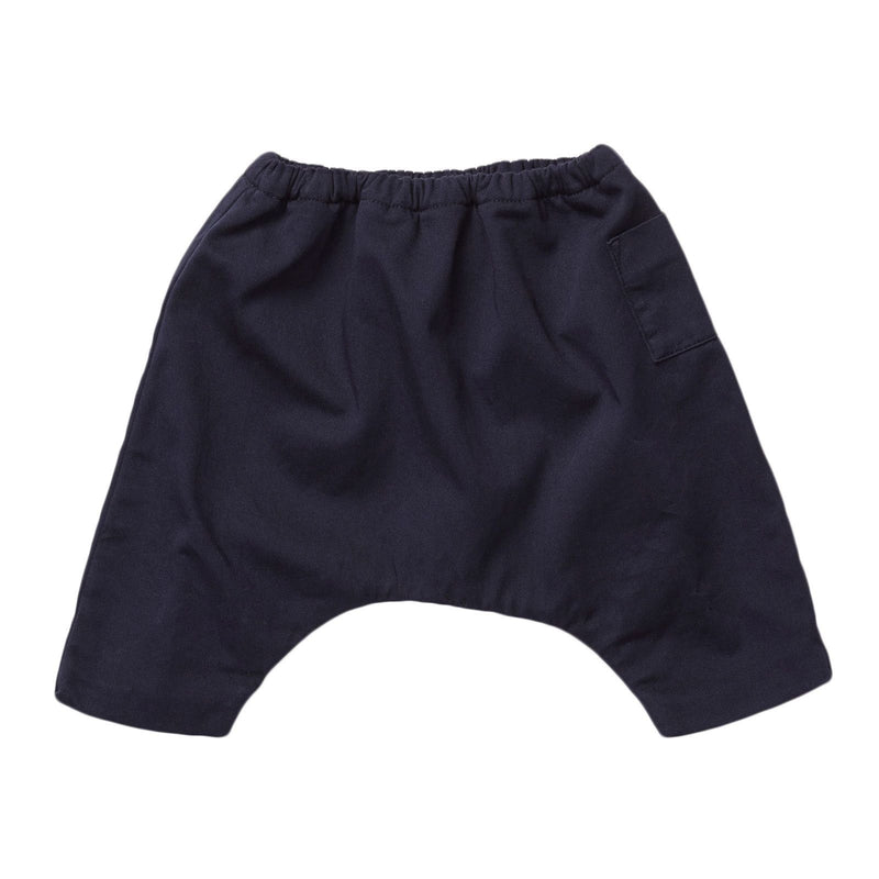 Baby Black Cotton Elasticated Waist Trousers - CÉMAROSE | Children's Fashion Store