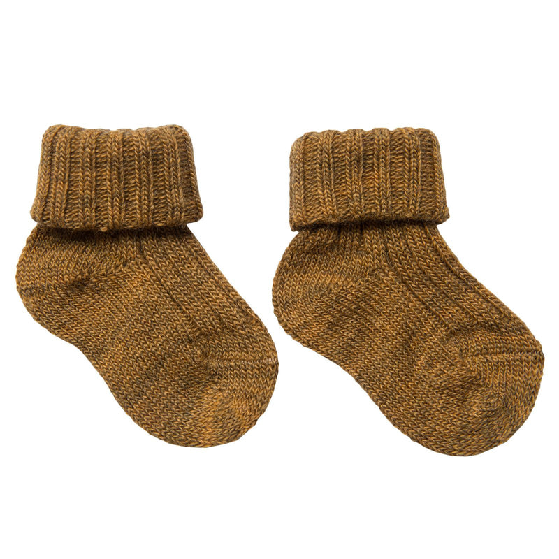 Baby Brown Knitted Low Socks - CÉMAROSE | Children's Fashion Store - 1