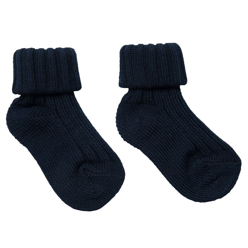 Boys&Girls Black Knitted Low Socks - CÉMAROSE | Children's Fashion Store - 1