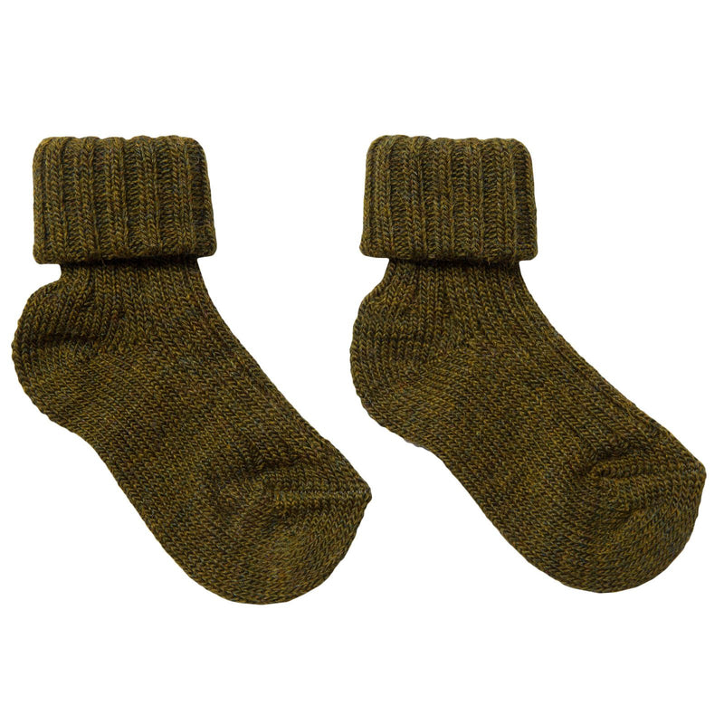 Baby Light Brown  Knitted Low Socks - CÉMAROSE | Children's Fashion Store - 1