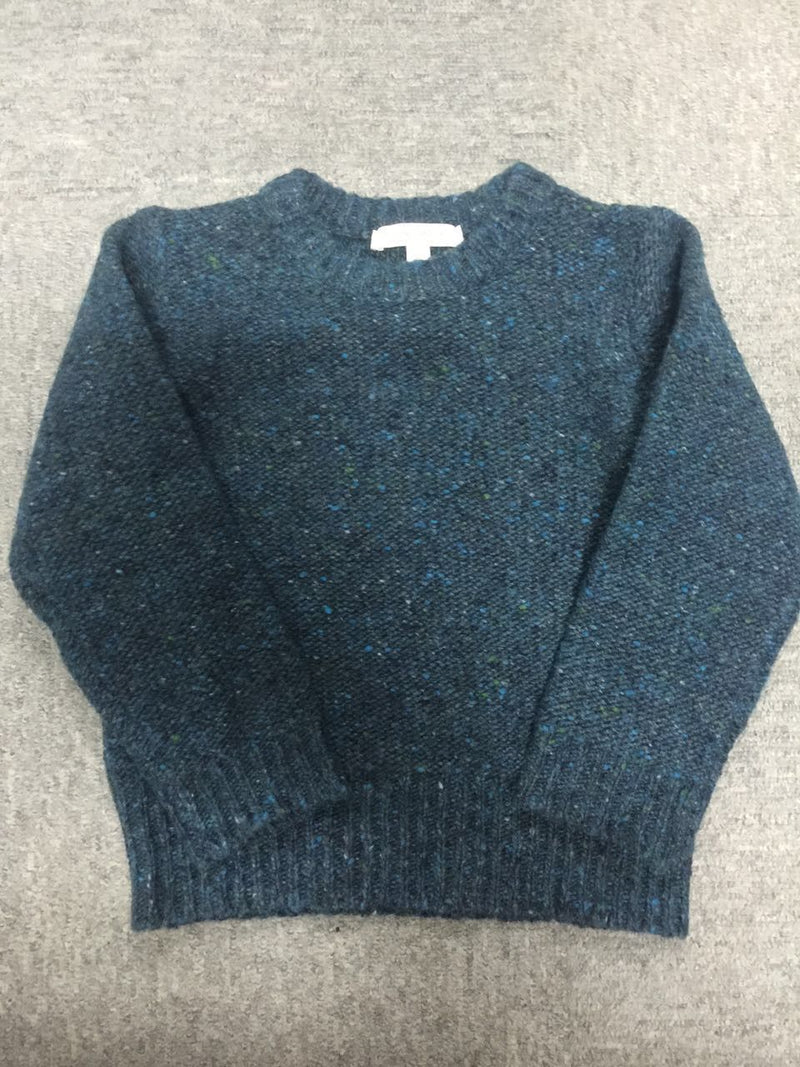 Boys Navy Blue Knitted Wool Sweater - CÉMAROSE | Children's Fashion Store