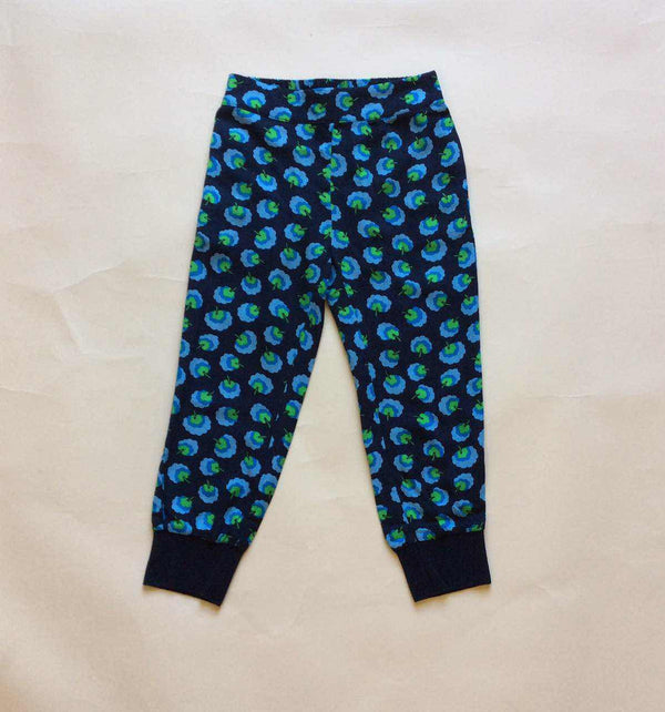 Girls Blue Cotton Allover Printed Trouser - CÉMAROSE | Children's Fashion Store - 2