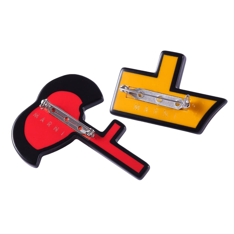 Girls Yellow&Red Brooch - CÉMAROSE | Children's Fashion Store - 2