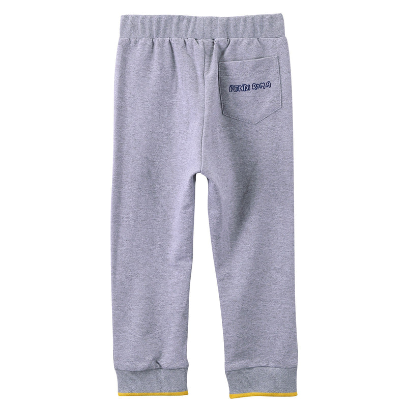 Baby Boys Grey Drawstring Trousers With Ribbed Cuffs - CÉMAROSE | Children's Fashion Store - 2