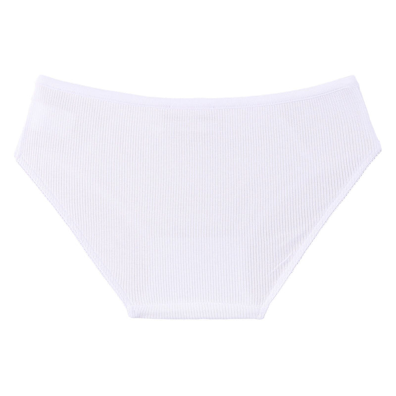 Girls Ivory Bow Trims Jersey Knicker - CÉMAROSE | Children's Fashion Store - 2