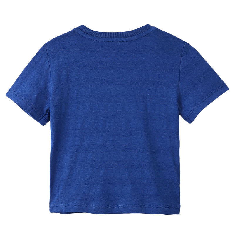 Boys Royal Blue Shark Printed Cotton T-Shirt - CÉMAROSE | Children's Fashion Store - 2