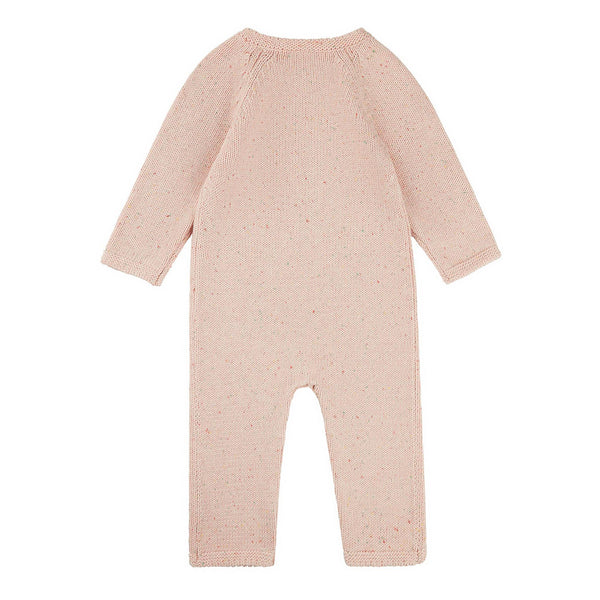 Baby Girls Light Pink Cotton Babysuit