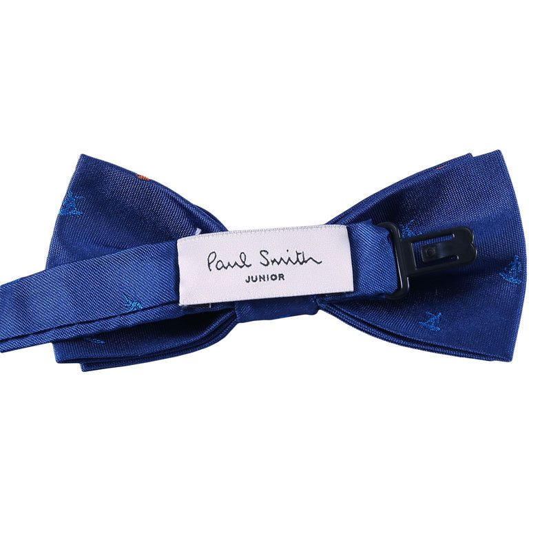 Boys Petrol Blue Embroidered Trims Silk Bow Ties - CÉMAROSE | Children's Fashion Store - 2