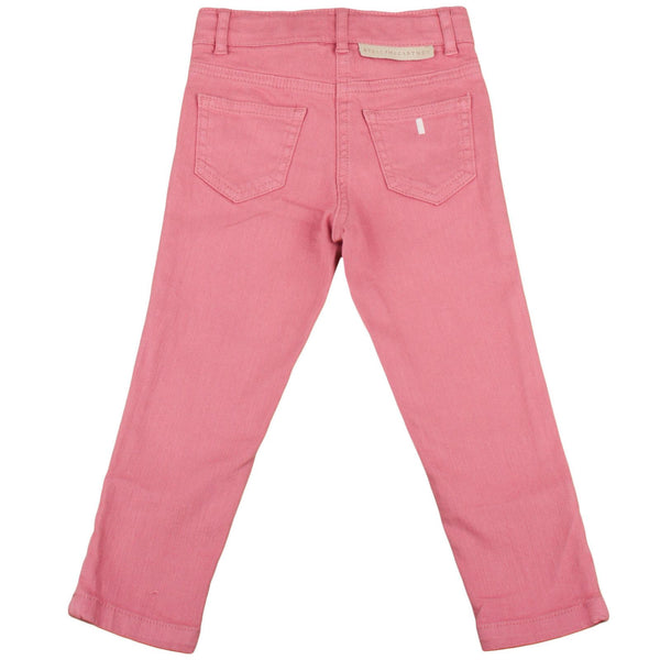 Nina Girls Red Cotton Trousers With Zips At The Ankle - CÉMAROSE | Children's Fashion Store - 2