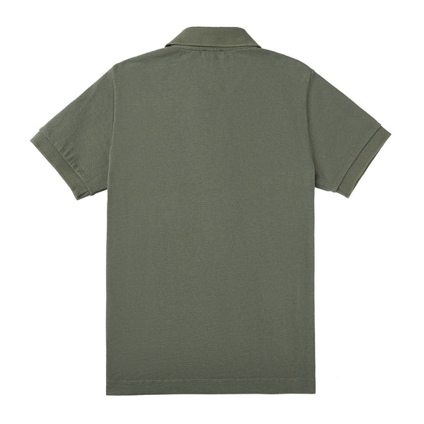 Boys Dark Green Cotton Polo Shirt