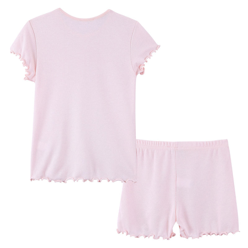 Girls Light Pink Top&Bottom  Pyjama - CÉMAROSE | Children's Fashion Store - 2